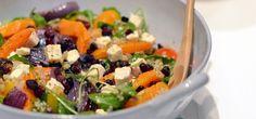 Quinoa salade met pompoen en feta -