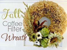 How do u glue the coffee filters to the wreath?