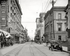 """Mobile, Alabama, circa 1910. """"Royal Street looking south from St. Francis."""""""