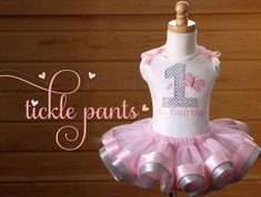 Butterfly Birthday Tutu Collection Pink and by TicklePants on Etsy, $63.99