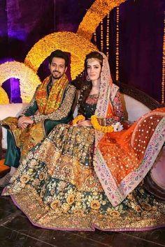 Pakistani Mehndi Dress, Pakistani Bridal Couture, Bridal Mehndi Dresses, Asian Bridal Dresses, Pakistani Wedding Outfits, Bridal Dress Design, Wedding Dresses For Girls, Bridal Outfits, Dulhan Dress