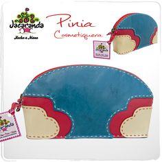 PINIA: cosmetiquera Jacaranda, en cuero, hecha a mano. #makeupbag #cosmetiquera