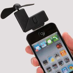 A fan for your iPhone! Totally getting it for this summer vacation!