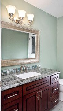 Sage Green Bathroom Double Vanity Framed Mirrors