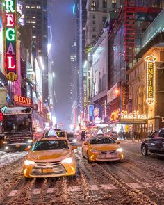Times Square & 42nd Street under the blizzard by Greg Torchia @gregroxphotos