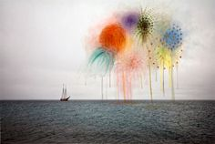 Canadian artist Sarah Anne Johnson combines drawing and painting in her photographs that represent idealism and nature.