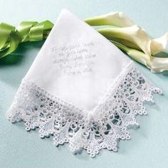 Exclusively Weddings Venise Lace Wedding Handkerchief