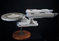 Most pawsum LEGO Enterprise I did ever seed!  Melby's model of the U.S.S. Enterprise. (Photo: Courtesy of Chris Melby)