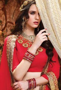 Bridal and Engagement Lehenga Choli Lehenga Suit, Bollywood Lehenga, Lehenga Choli Online, Bridal Lehenga Choli, Red Wedding, Wedding Wear, Wedding Dresses, Indian Dresses, Indian Outfits