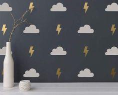Cloud & lightning bolt decals :)