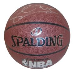new arrival 95971 28db3 Serge Ibaka Autographed Spalding NBA Indoor   Outdoor Basketball, Proof  Photo