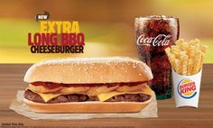 The Extra Long BBQ Cheeseburger from Burger King is basically Rodeo Cheeseburgers on a single bun.