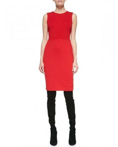 St. John Collection - Sleeveless Sheath Dress, Venetian Red (worn by Mellie Grant on Scandal)