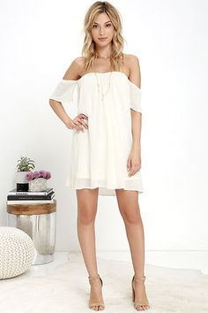 O'Neill Dutch Cream Off-the-Shoulder Dress at Lulus.com!