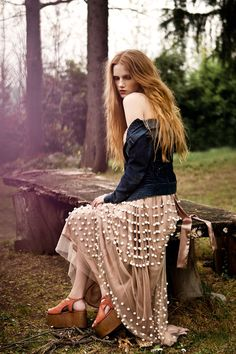 Klara Gro by Cristina Capucci for Urban Magazine May 2012. My kind of outfit....LOVE that skirt!