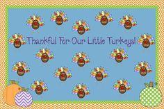 Thanksgiving Turkey Themed Bulletin Board Idea