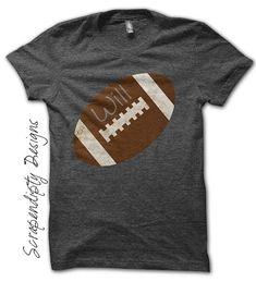 Iron on Football Shirt - Sports Iron on Transfer / Mom Football Shirts / Kids Sports Party / Custom Nursery Decor Print / Baby Shower IT76-C
