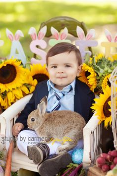 Easter Photography He's probably a little terror but what a cute pic!!!