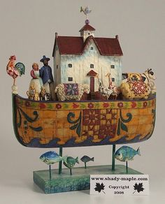 Noahs Ark - Noah Did All That The Lord Commanded Him by Jim Shore. $45. Have it. Present from hubby