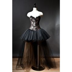 Custom Size Black and Gold lace and tulle Burlesque Corset Dress (€265) ❤ liked on Polyvore featuring dresses, vestidos, short lace cocktail dress, long cocktail dresses, tulle cocktail dress, long corset and black and gold cocktail dress