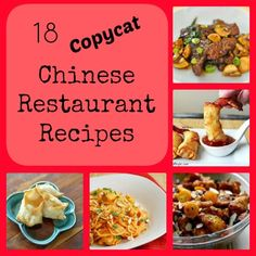 18 Copycat Chinese Restaurant Recipes + 13 New Takeout Picks Read more at http://www4.allfreecopycatrecipes.com/Other-Copycat-Recipes/18-Copycat-Chinese-Restaurant-Recipes#HFcl6BS0OyG9i6R9.99