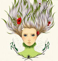 Digital coloured version for the Mail Me Art 2015 illustration