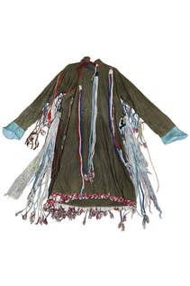 """Robes such as these were worn by shamans. Still powerful in Mongolian nomadic life, shamans had great influence on the development of the Mongol Empire. On display in """"Genghis Khan"""" at the Field Museum in Chicago."""
