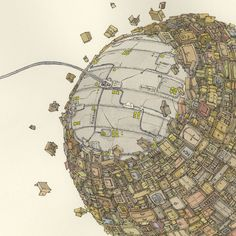 Incredible New Sketchbook Illustrations from Mattias Adolfsson posters and prints illustration drawing