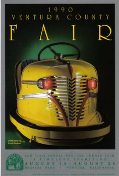 Ventura County Fair Poster, 1990. Photography by William Hendricks