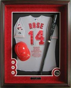 Baseball Shadow Boxes, Baseball Display, Sports Frames, Framed Jersey, Batting Average, Sports Gallery, Diy Fan, Fan Picture, School Fundraisers