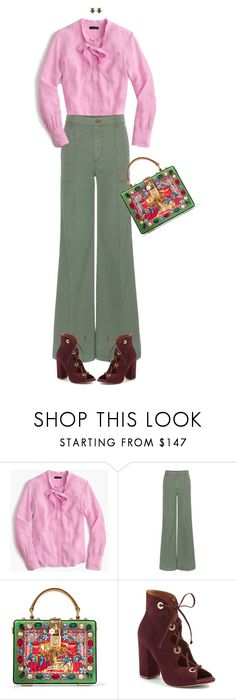 """Untitled #1568"" by polylana ❤ liked on Polyvore featuring J.Crew, J Brand, Dolce&Gabbana, Steve Madden and Alcozer & J"