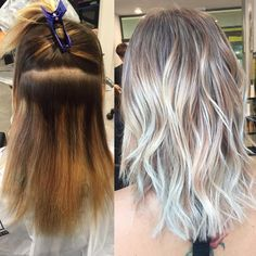 Color Correction to Blended Platinum with Olaplex
