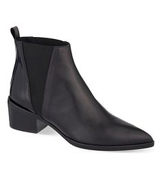 WHISTLES Belmont pointed toe leather Chelsea boots
