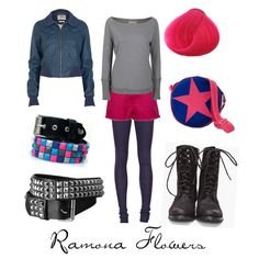 Ramona Flowers, created by character-inspired-style.polyvore.com