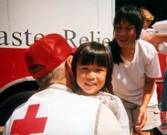 This picture is pretty well-known in Red Cross world, but it is very personal to me.  The event is Katrina and the volunteer you only see the back of is Bob Gordon.  Bob was the first volunteer that gave me a hug, he taught me what an ERV is, and no matter how stressful my Red Cross day was... he always reminded me to smile.  We lost Bob a year ago, but I carry his simple lessons with me still.