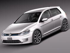 2015 Volkswagen Golf 3Ds - 3D Model