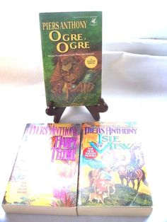 3 Piers Anthony PB Books Harpy Thyme Ogre Ogre Isle of View Xanth Novel