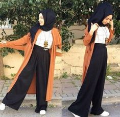 New Fashion Casual Elegant Trousers 19 Ideas Hijab style hijab Modern Hijab Fashion, Street Hijab Fashion, Hijab Fashion Inspiration, Islamic Fashion, Muslim Fashion, Modest Fashion, Fashion Outfits, Fashion Ideas, Modest Wear