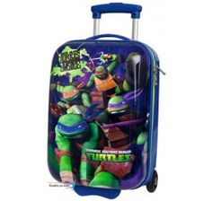 ad07a9d5526ce Cestovný kufor ABS Ninja Korytnačky modrý 48cm Disney Boys, Hand Luggage,  Ninja Turtles,