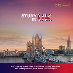 Study in UK, United kingdom Education Consultants in India Office Wallpaper, Living Etc, Uk Post, Social Media Banner, Ielts, Study Abroad, United Kingdom, Pet Logo, University