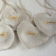 Handmade heart sachets