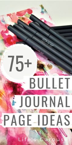 Over 75 Bujo Page Ideas! Stuck for what to put in your bujo? This MASSIVE list of Bullet Journal page ideas for spreads, trackers, and more! Bullet Journal Décoration, List Of Bullet Journal Pages, Bullet Journal How To Start A, Bullet Journal Spread, Bullet Journal Layout, Bullet Journal Inspiration, Journal Ideas, Journal Fonts, Journal Prompts