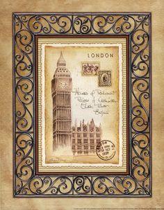 Andrea Laliberte - 'London Postcard'