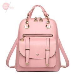RoyaDong 2016 Small Leather Backpack Women Flap Black Fashion Preppy Bag For Teenage Girls