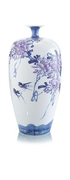 nStyle-Decor.com Chinese Blue & White Porcelain Jar.