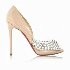 christian louboutin Altadama 100 patent leather peep-toe pumps ...