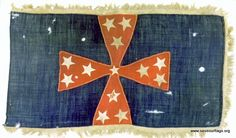 the headquarters flag of Brigadier General John Adams, who was killed at Franklin while attempting to cross the federal works.