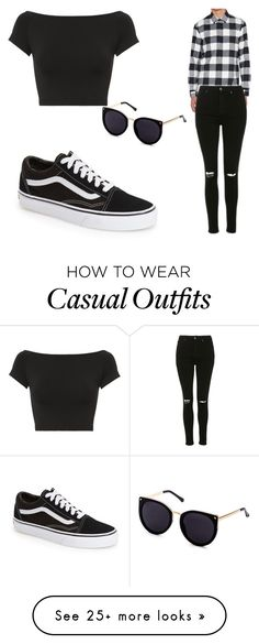 """""""Casual Outfit"""" by michelle0123 on Polyvore featuring Neil Barrett, Topshop, Vans and Helmut Lang"""