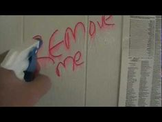 Tagaway Graffiti Remover - Removes Graffiti From Painted Wall. Video from Equipment Trade Service Company Inc. for the Elite Graffiti Remover Tagaway. For more information go to http://www.shopetsonline.com/tagaway-p/cpcp-204505.htm . Tagaway graffiti removal product for smooth and painted surfaces is used here to remove marker from a painted wall.