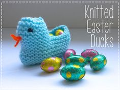 Knitted Easter Ducks